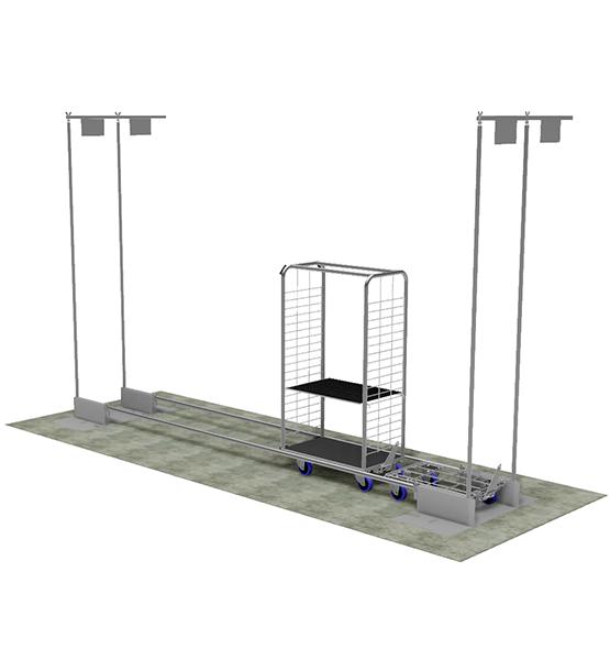 Gare de stockage pour rollers et embases