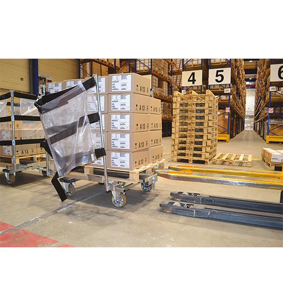 Embase à double essieux avec Volet Anti-Chute (VAC)
