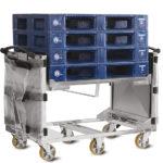 Chariot ergonomique avec Volet Anti-Chute (VAC)