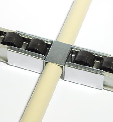 Rails à galets alumininium et ses liaisons