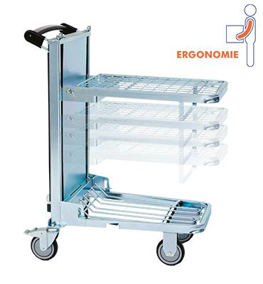 Chariot ergonomique 600×400 mm