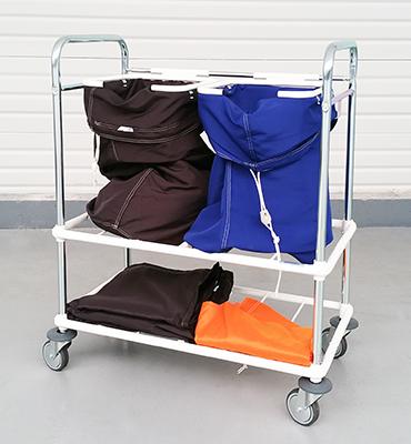 Chariot porte-sacs pour préparation de commande